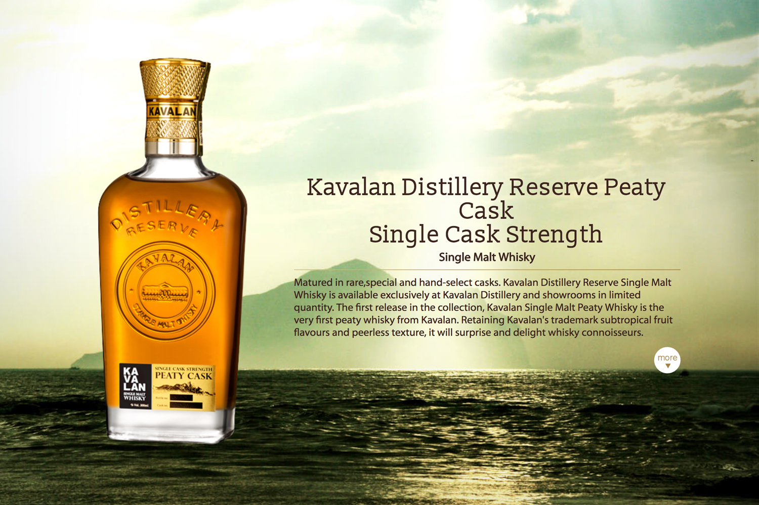 The Kavalan Distillery Reserve Peaty Cask was the Gold medal winners this year.