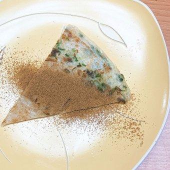 Green onion pancake with brown sugar 黑糖葱油饼