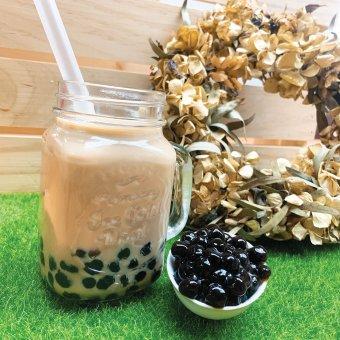 Pearl milk tea with brown sugar 黑糖珍珠奶茶