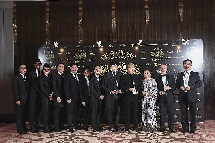 From left: The TENG Company, Singapore (from left 1-8) ; Ronald Kam, Hong Kong; Sukanya Janchoo, Thailand; Jim Thompson, Malaysia and Ken Ong, Australia.
